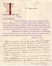 Document du 19/08/1911 JUAN J. NARVAEZ HIJOS - Quito EQUATEUR