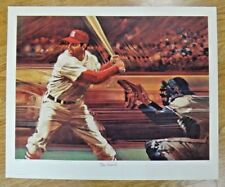 Stan Musial Signed Sports Illustrated Living Legends 18x22 Litho 851/1000 PSA