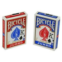 2 Decks Bicycle Jumbo Playing Cards Red/Blue New Sealed Decks