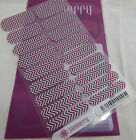 Jamberry Boysenberry Chevron Matte A692 Nail Wrap Full Sheet Retired