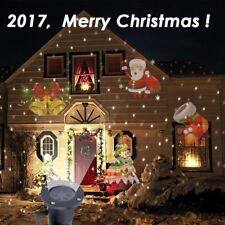 Outdoor Christmas LED Lights Moving Laser Projector Landscape Xmas Santa Lamp