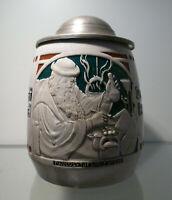 Jugendstil Bierkrug 0,5 Liter, Manufaktur THEWALT Modellnr. 536, um 1910