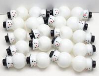 Lot of 20 Snowman - Vintage Plastic Christmas Light Covers Snowman