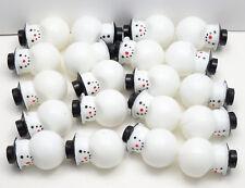 20 Snowman - Vintage Plastic Christmas Light Covers Snowman