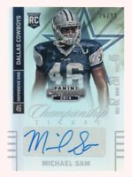 2014 Contenders Championship Ticket #162A Michael Sam RC /99 AUTO Cowboys
