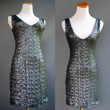 Backstage Australia Dress Body Con Entirely Covered in Gunmetal Gray Sequins XS