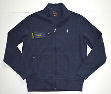 New Men's Polo Ralph Lauren Full Zip Track Jacket Sweatshirt Blue, L, Large