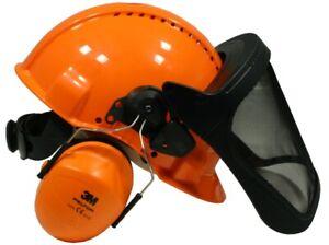 Kopfschutzkombination Peltor G3000M (Gehörschutz und Gesichtsschutz) Forsthelm