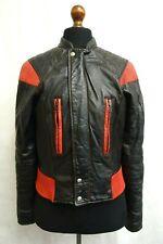 Men's Vintage 1970's Cafe Racer Leather Motorcycle Biker Jacket S 38R