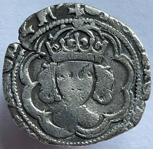 1493 - 98 Henry VII (7th) Silver Hammered Half Groat MM Tun Canterbury Mint
