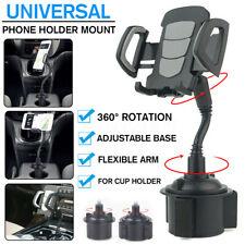 360° Universal Adjustable Car Mount Gooseneck Cup Holder Cradle for Cell Phone
