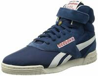 REEBOK EXOFIT HI VINTAGE TRAINERS NAVY SUEDE CLASSICS RARE MEN'S SNEAKERS SHOES