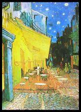 Vincent van Gogh Nachtcafe Poster Bild Kunstdruck im Alu Rahmen schwarz 70x100cm