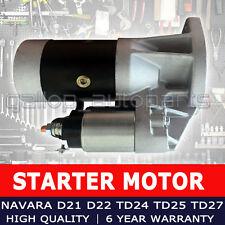 For Nissan Navara D21 D22 Starter Motor TD24 TD25 TD27 ZD30DDT ZD30EFI QD32E