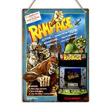 RAMPAGE ARCADE MACHINE Retro Gaming Metal Wall Sign Plaque Man Cave Games Room