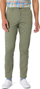 WRANGLER MEN'S CHINO STRETCH TROUSER PANT - DUSTY OLIVE W32 L32 - RRP £80