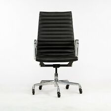 2010s Herman Miller Eames Aluminum Group Executive Desk Chair In Black Leather