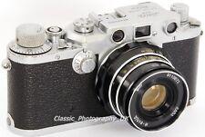 Leica IIIc - 35mm Rangefinder Made by LEITZ in 1947 + Industar 2.8/53mm Lens