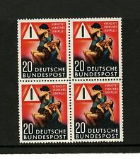 """Germany #694 (GE945) Comp Block of 4, """"Prevent Traffic Accidents"""",MNH,CV$58.00"""