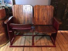 Set of Two Refurbished Wooden Cinema Seats/Vintage/Indoor/Outdoor/Theatre/Chair