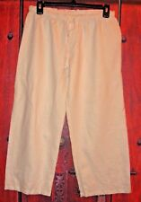GAIAM WOMEN'S 100% LINEN CAPRI PANTS EMBROIDERY SIZE M