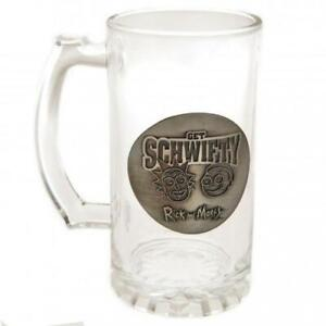 Rick And Morty Glass Tankard Stein Glass Tankard Official Licensed Product