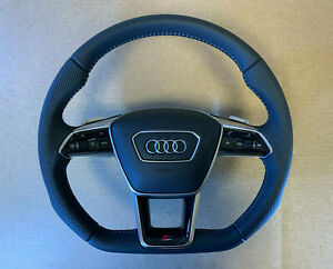 Audi A6 A7 A8 Q8 E-tron 4K 4N 4M GENUINE S-line Steering Wheel with Paddles