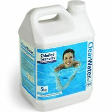 CLEARWATER 5KG CHLORINE GRANULES FOR POOLS SPAS AND HOT TUB DISINFECTANT