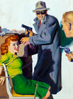 FRAMED CANVAS Art print Somebody Stole My Gal, Private Detective pulp magazine
