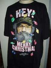 New DUCK DYNASTY COMMANDER HEY MERRY CHRISTMAS T-Shirt Large