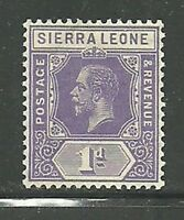 Album Treasures Sierra Leone  Scott # 123  1p  George V  Mint VLH