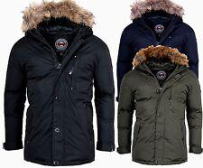 Geographical Norway Cálido chaqueta invierno hombre Outdoor Parka anorak abrigo