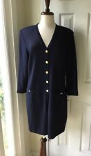 St. John Collection by Marie Gray Navy Blue Santana Knit Cardigan Size 12