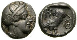 ATTICA Athens Circa 454-404 B.C. AR Tetradrachm 23 mm 17.15 g 3h EF Owl Athena