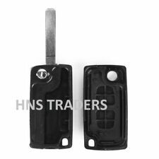 NEW For PEUGEOT KEY FOB FLIP 2 BUTTON REMOTE CASE NO BATTERY  + LOGO A23