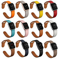 Genuine Leather Apple Watch Band Strap Bracelet For iWatch Series SE 6 5 4 3 2 1