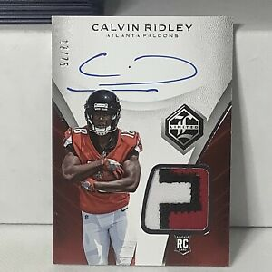 2018 Limited Calvin Ridley ROOKIE Patch Auto Falcons 12/75 B3