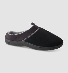 $95 Isotoner Men Black Memory Foam Moisture-Wicking Clogs Slippers Shoe 9.5-10.5