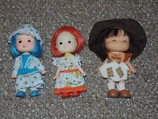 1980s Agglo Lil Lollypops & Little Honey Lot of 3 Dolls Strawberry Shortcake