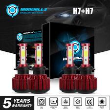 H7+H7 4 sides LED Headlight for V&W For Jetta 05-2018 Passat 01-2016 Hi/Lo Beam
