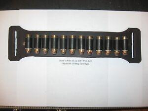 """Ammo Holder Slide on Belt Leather Cartridge Holder for Belts 1.5"""" to 2.25"""" Wide"""