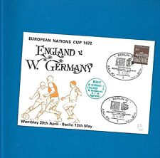 Postal Cover 1972 England v West Germany (Flown Cover) (Nations Cup Football)