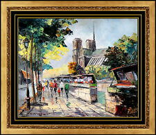 Constantin Kluge ORIGINAL Painting Oil On Canvas French Landscape Signed Artwork