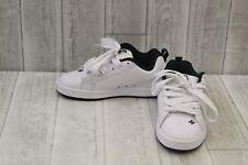 DC Shoes Court Graffik SE Skate Shoes, Men's Size 6.5, White/Black