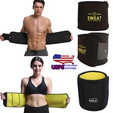 Men Women Yoga Slim Fit Waist Trainer Belt Wrap Fat Burner Body Shaper Girdle HS