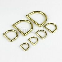 Brass Handbag Leather Bag Purse Strap Belt Webbing Cast D Ring Buckle Clasp