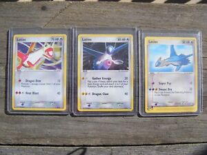 LATIOS 2/10 LATIAS 4/10 2004 EX Trainer Kit Pokémon RARE Holo Black Star Promo