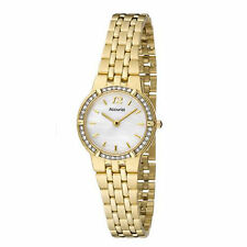 Accurist Damen Mutter Aller Perlen Gold Armbanduhr LB1737P