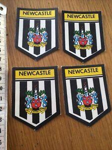4 X Retro NEWCASTLE United Fc Stickers Unused