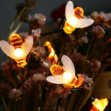 Solar LED Bienen Lichterkette Deko Beleuchtung Aussen Wasserdichte Dekorative